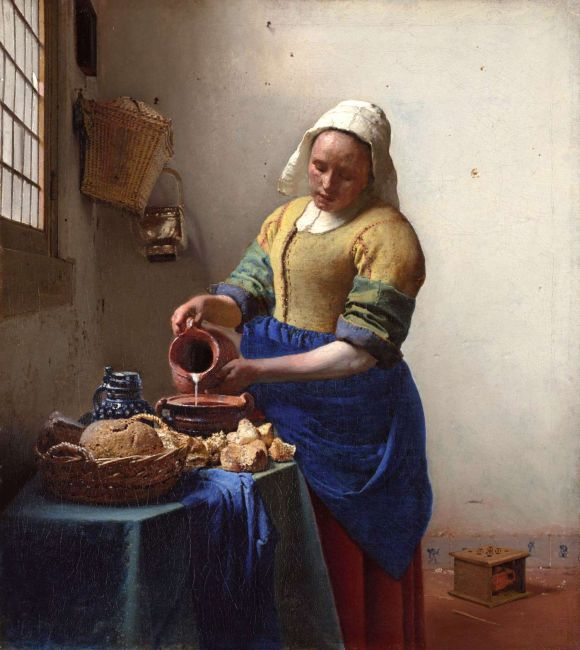 The Milkmaid, ca. 1660 by Jan Vermeer (Rijksmuseum in Amsterdam)